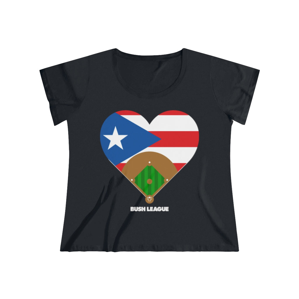 Ladies Curvy Puerto Rico Relief Ladies Tee