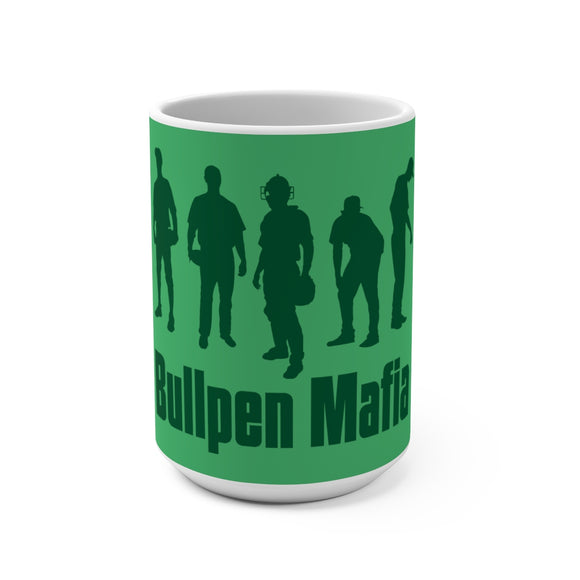 Bullpen Mafia Special Edition Green Coffee Mug 15oz - Bush League Mercantile