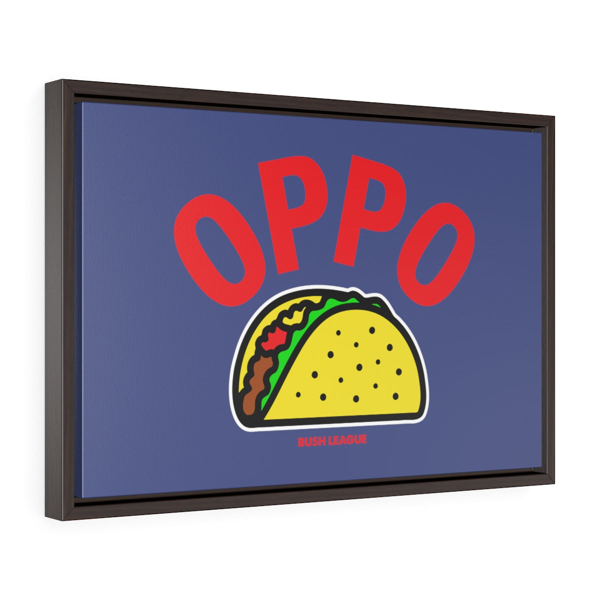OPPO Taco Framed Canvas Print