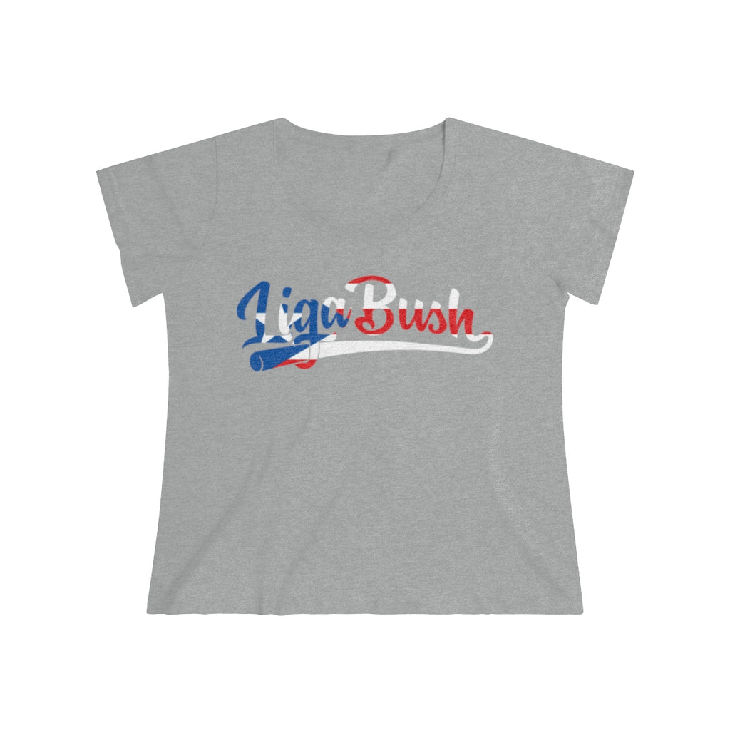 Ladies Curvy Liga  Bush Puerto Rico Relief Tee