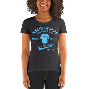 Bush League Classic Apparel - Ladies' short sleeve t-shirt (Blue)