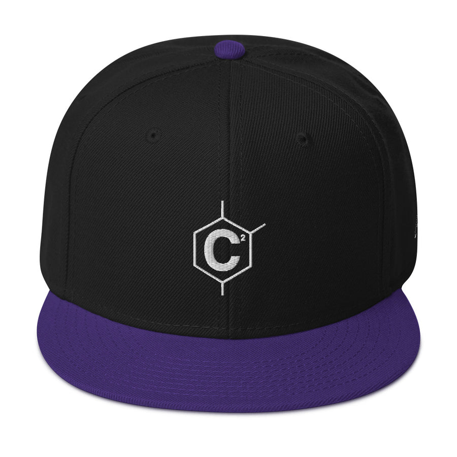 C2 Hexa Signature Logo Flat Bill Snap Back Hat