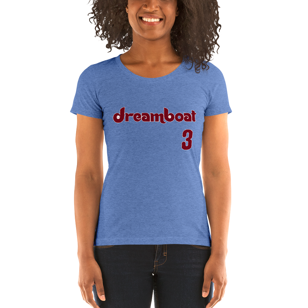 Dreamboat Ladies Short Sleeve Shirt (Heather Powder Blue)