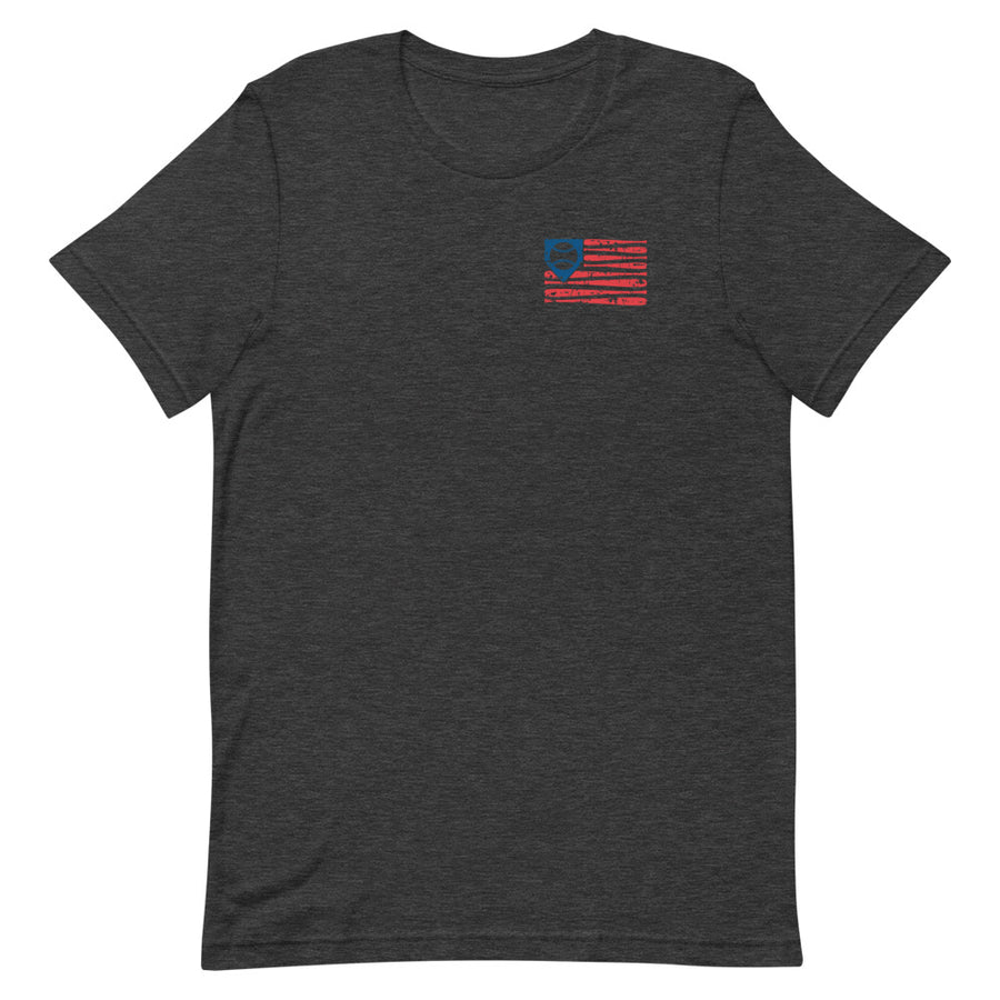 Distressed Baseball Flag Men's Tee