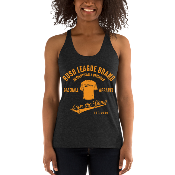 Bush League Brand Ladies Bella + Canvas Racerback Tank (Orange)