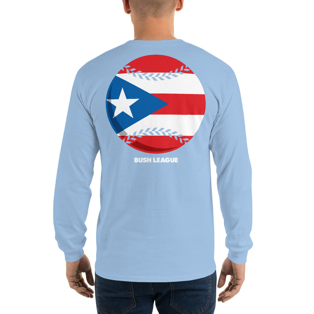Men's Liga Bush Puerto Rico Baseball LS tee
