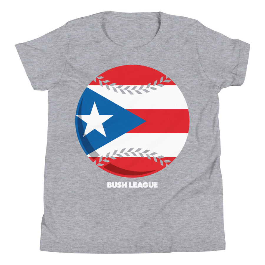 Youth Puerto Rico Baseball Relief Tee