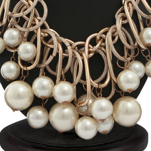 Load image into Gallery viewer, Gracious pearl necklace l Statement necklace l heavy necklace l Fashion Jewelry
