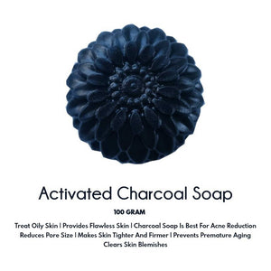 Handmade activated charcoal soap for oily skin