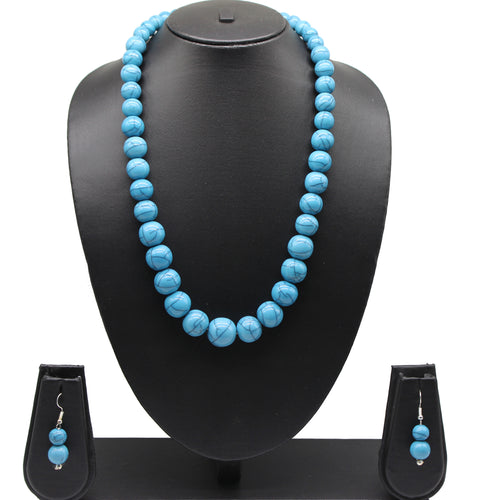 Indian High end resin beaded necklace With Earrings