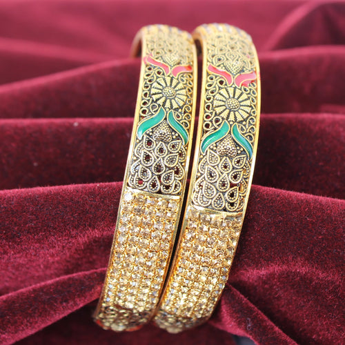 Indian Style Golden bangles kada VictorianLadiesBangles