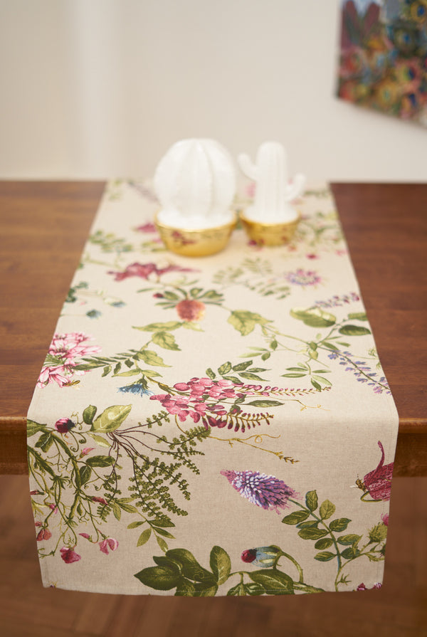 Botanical Pattern Table runner
