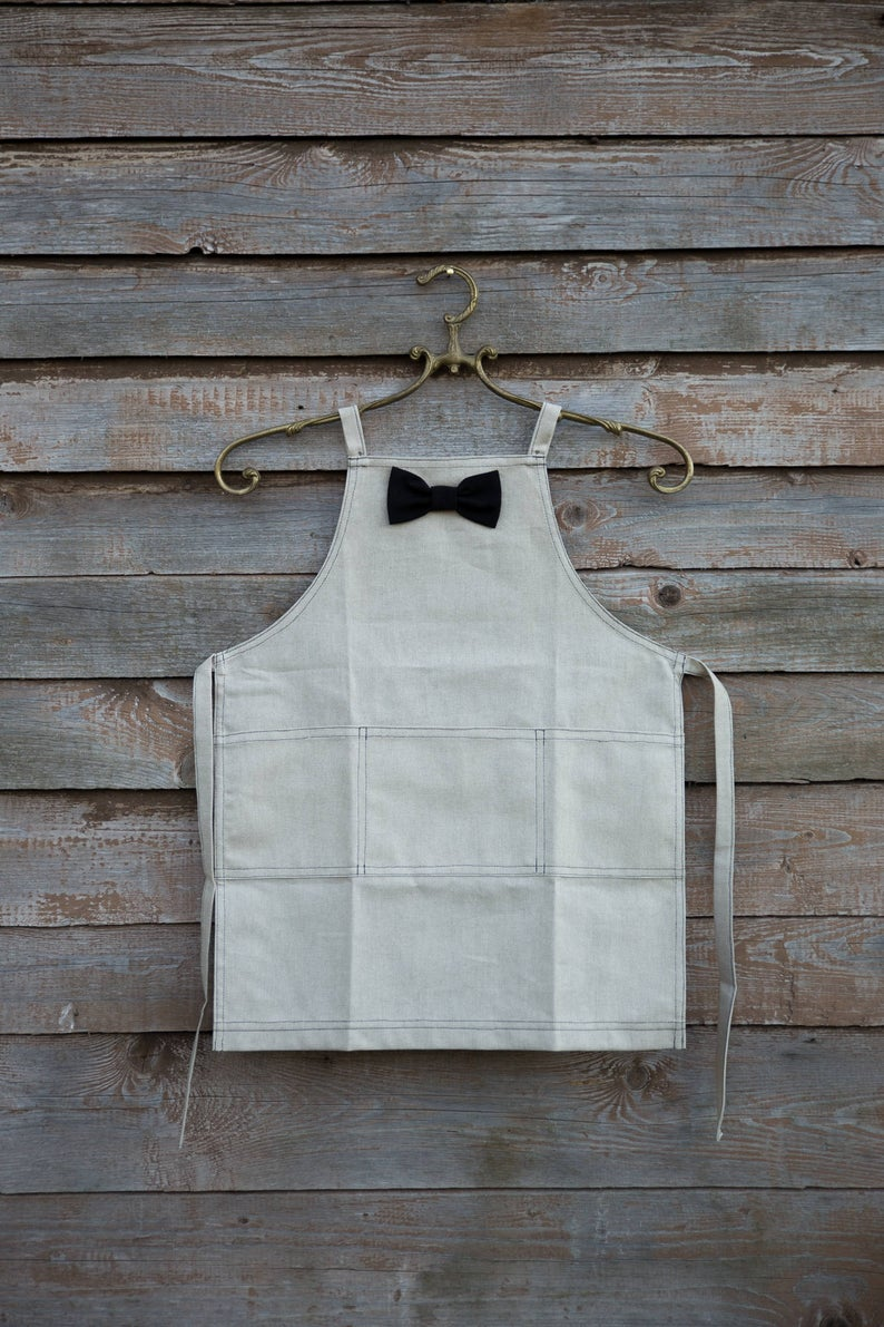 Grey Kids Apron