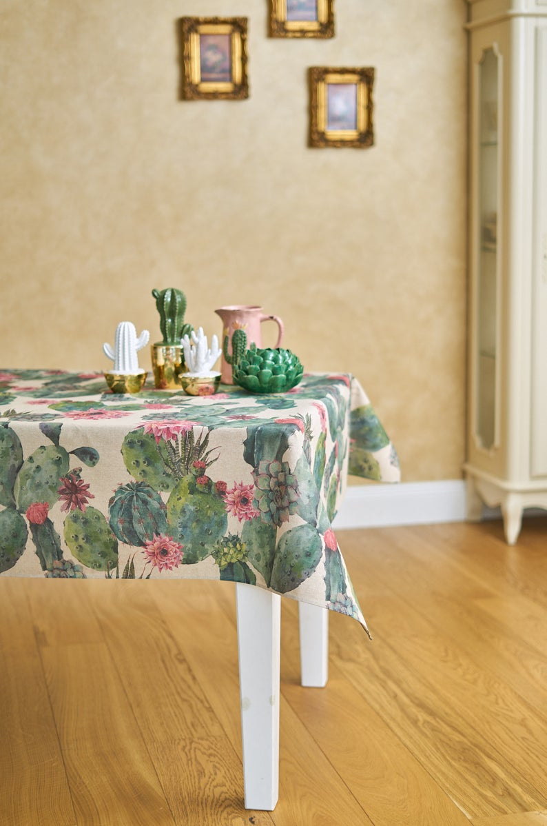 Cactus Square Rectangular Tablecloth