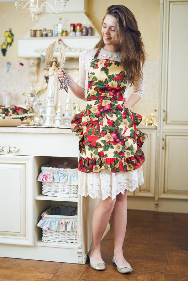 Red Christmas Apron for Women