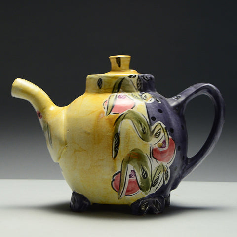 SOLD -Oval Teapot by Posey Bacopoulos