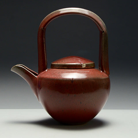 Copper Red Teapot by Beverly Fetterman