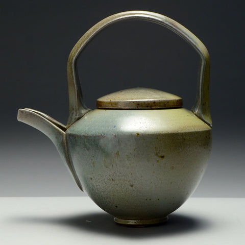 Sage Green Teapot by Beverly Fetterman