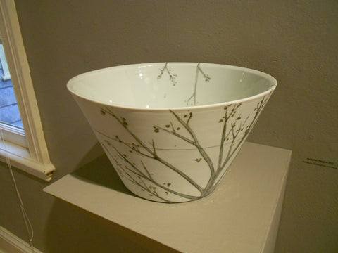 Trees and Wires Serving Bowl by Autumn Higgins
