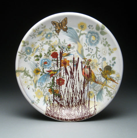 Cattail Plate by Justin Rothshank