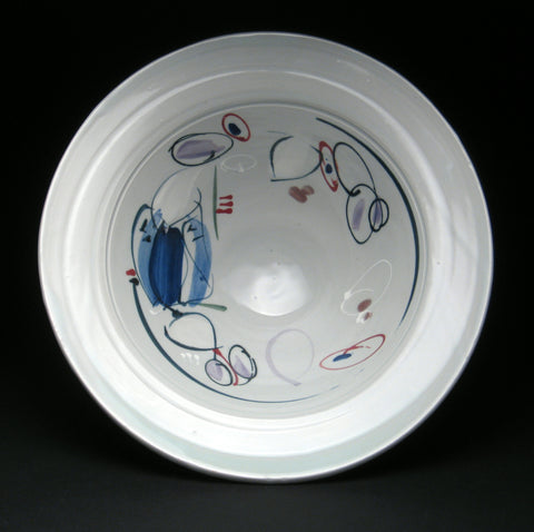 Wide Rim Bowl by Ronni Aronin