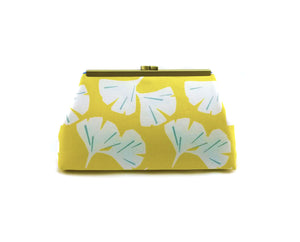Yellow Ginko Leaf Clutch