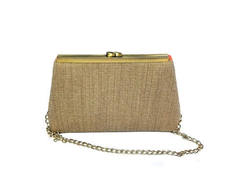 Brown Staple Clutch