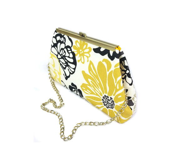 Floral Yellow Clutch