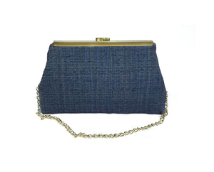 Dark Blue Textured Clutch