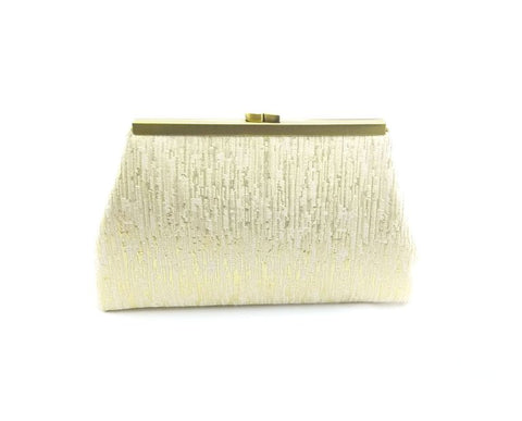 Gold and Cream Clutch