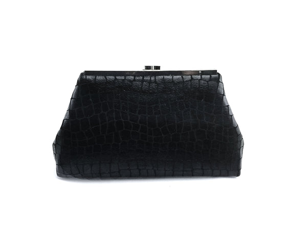 Glam Black Clutch