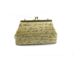 French Script Clutch