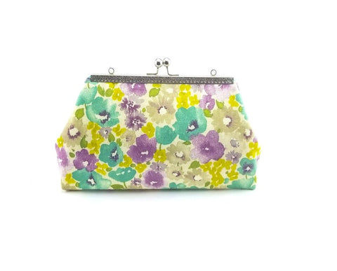 Floral Teal Clutch