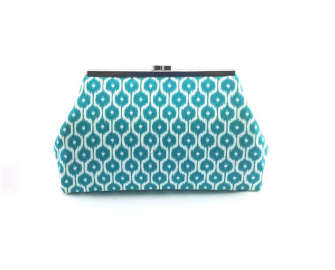 Teal and Coral Clutch