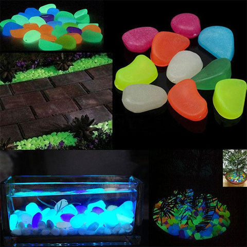 Image of Glowing Garden Pebbles (100pcs)
