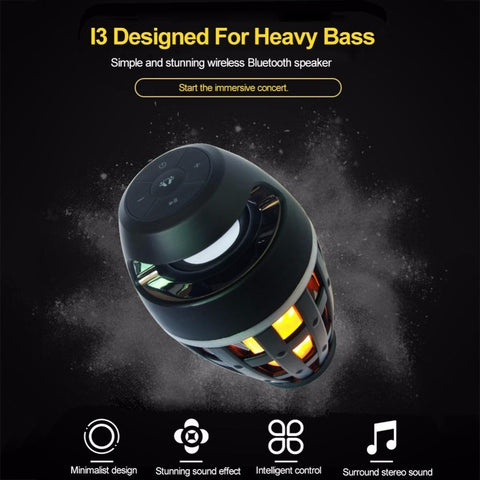 Led Flame Lights Bluetooth Speaker