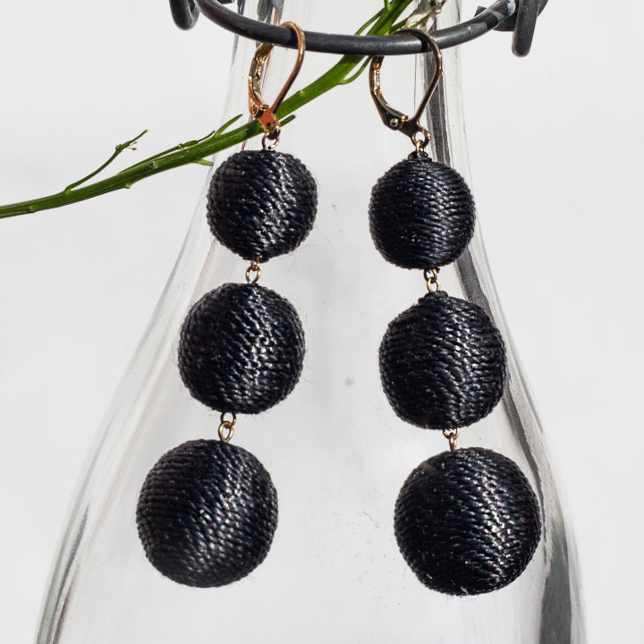 Maxi Lolita Earrings Clasp - Black Business