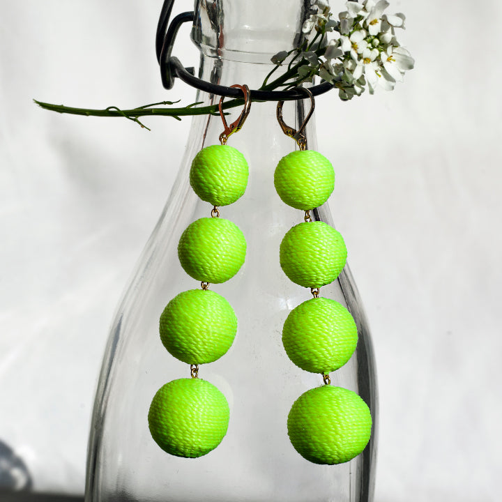 Minuit Lolita Earrings Clasp - Citrus Yellow