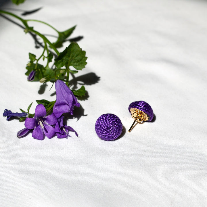 Mini Lolita Earrings Pin - Fashionable Violet