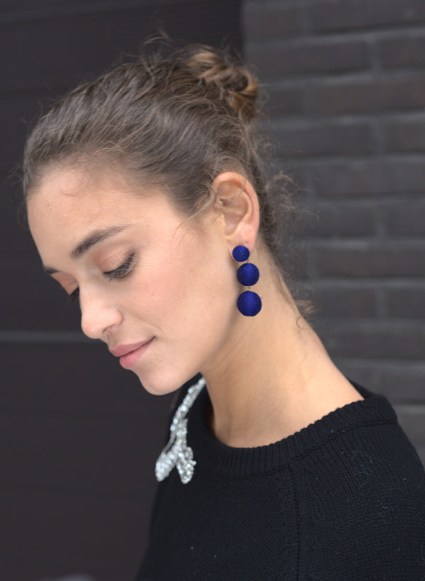 Midi Lolita Earrings Pin - Night Blue