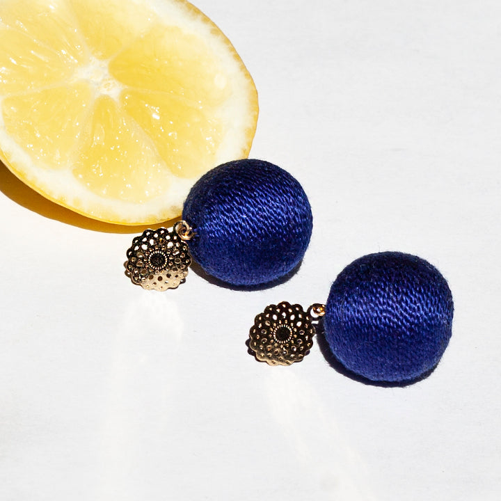 Soli Lolita Earrings Pin - Night Blue
