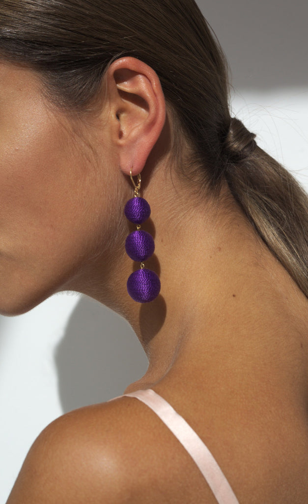 Maxi Lolita Earrings Clasp - Fashionable Violet
