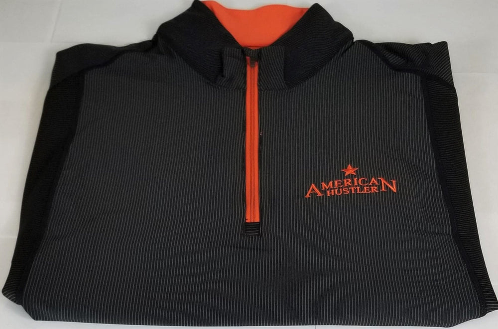 1/2 ZIP JACKET BLACK ORANGE