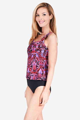 Square Neck Women's Underwire Tankini Top by Mazu Swim