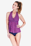 Mesh Wrap Women's Halter Tankini Top by Mazu Swim
