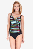 Ruched Twist Front Women's Tankini Top by Mazu Swim