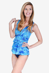 Mesh Triple Tier Women's Tankini Top by Mazu Swim