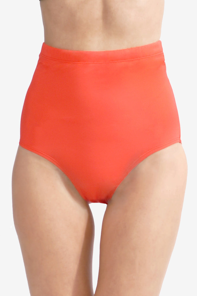 Ultra High Waist Women's Swimsuit Brief Bottom with Power Mesh Panel by Mazu Swim
