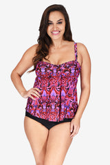 Drape Bandeau Women's Plus Size Tankini Top by Mazu Swim