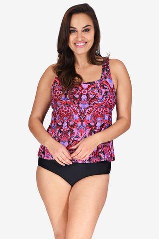 Square Neck Women's Plus Size Underwire Tankini Top by Mazu Swim